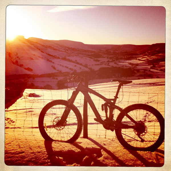 peak district snow mountain biking